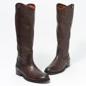 FRYE Melissa brown leather flat riding boots 10B